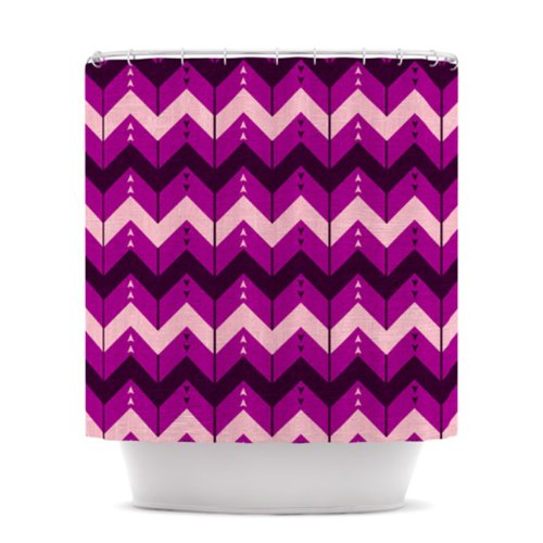 Modern Purple Chevron Shower Curtain