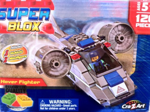 Super Blox Hover Fighter - Includes 1 Vehicle and 1 Minifigure