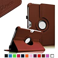 Fintie 360 Degrees Rotating Stand Case Cover for Samsung Galaxy Note 10.1 inch Tablet N8000 N8010 N8013 - Brown...