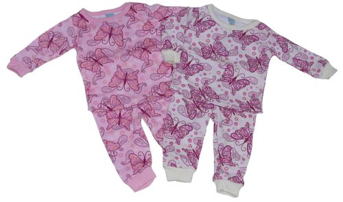 Buy Girls' Pajamas with Butterfly Print