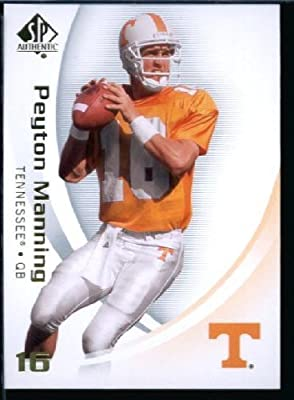 2010 Upper Deck SP Authentic NCAA Football Card # 73 Peyton Manning - Volunteers (Indianapolis Colts) NFL Football Trading Card in Protective Screwdown Case!