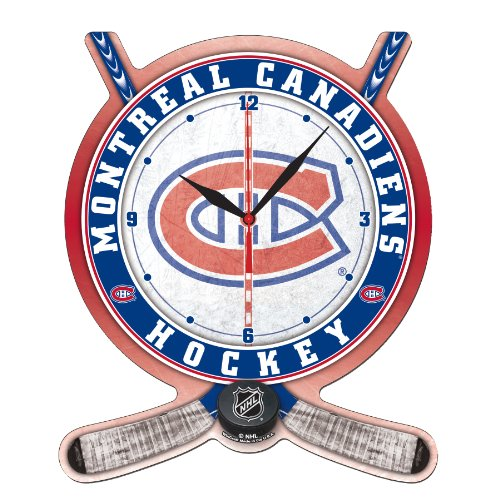NHL Montreal Canadiens Hockey Stick and Puck High Definition Clock