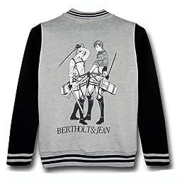 CosplayHut 進撃の巨人 Attack on Titan コスプレ衣装 人気スポーツ野球コート、ベルトルトとジャン