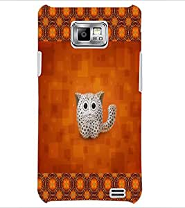 PrintDhaba Kitty D-2491 Back Case Cover for SAMSUNG GALAXY S2 (Multi-Coloured)
