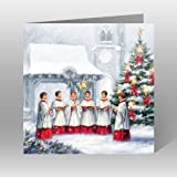 Paper House Charity Christmas Cards - Pack Of 6 Cards - Christmas Church Choir - In Aid of the following Charities: Marie Curie Cancer Care, Age UK, MNDA, Tenovus, British Heart Foundation, Self Unlimited