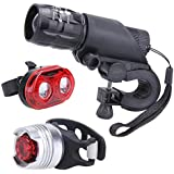 Generic LED Bicycle Front Torch Lights + Tail Light Bicycle Rear Light Helmet