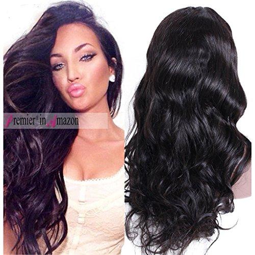 Premier Silk Top Lace Front Human Hair Wigs Glueless Body Wave Brazilian Virgin Hair 130% Density Natural Loose Wave 1X3