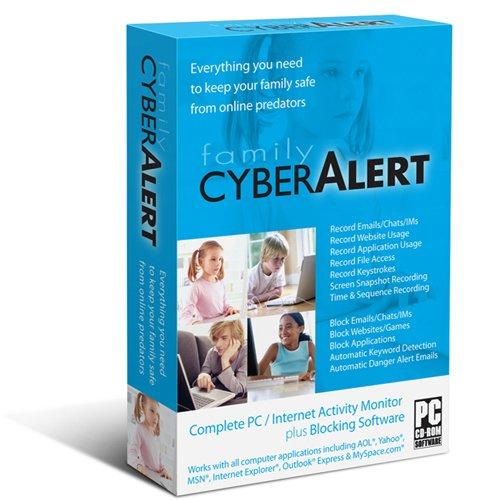 Family Cyber Alert (Version 4.54 CD+download): Parental Control &amp; Keylogger &amp; Internet Monitoring &amp; Computer Monitoring &amp; PC Monitoring &amp; Chat Monitoring &amp; Online Monitoring &amp; Web Filter &amp; Keystroke Logger &amp; Key Logger &amp; Prevent Cyber Bulleying &amp; Time Control. The latest version from the maker of the software with free future updates and premium technical support. Works with Windows 7/Vista/XP