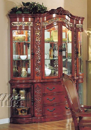 Cheap China Cabinet Buffet Hutch Windsor Cherry Finish (VF_AZ00-39489×22258)
