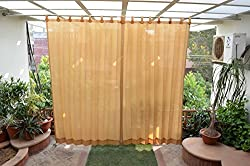 HIPPO Outdoor Curtains - Beige Colour - Full Size (2 Nos. x 4.0 Ft W x 7.5 Ft L)