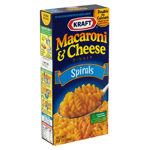Kraft Macaroni & Cheese Dinner, Spirals, 5.5-Ounce Boxes (Pack of 24)