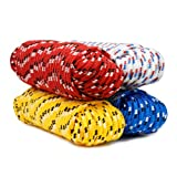 Yellow Koch Industries Koch 5001245 3//8 by 400-Feet Poly Twisted 3 Strand Rope