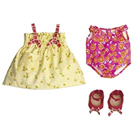 North American Bear Company Rosy Cheeks Baby Beach Outfit Set