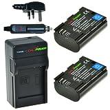 Original ChiliPower LP-E6 1850mAh Battery 2-Pack + Charger (UK Plug) for Canon EOS 6D, EOS 7D, EOS 60D, EOS 60Da, EOS 70D, Canon EOS 5D Mark II, EOS 5D Mark III