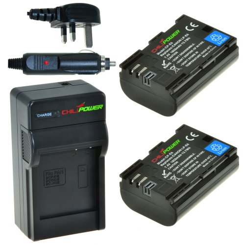 Original ChiliPower LP-E6 1850mAh Battery 2-Pack