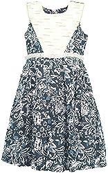 Euphoria Girls' Dress (SKU297F, Blue and White, 2-3 Years)