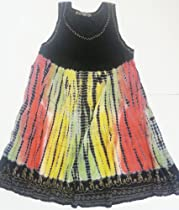 Raya Sun Tie Dye Dress/Cover Up in Black/Red/Olive/Yellow 3X