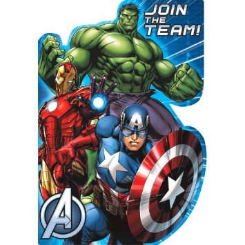 8 Count Avengers Invitations, Multicolored (Iron Man Invitations compare prices)