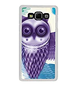 Purple Owl 2D Hard Polycarbonate Designer Back Case Cover for Samsung Galaxy A8 (2015 Old Model) :: Samsung Galaxy A8 Duos :: Samsung Galaxy A8 A800F A800Y
