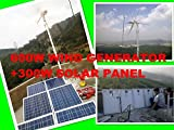 GOWE off grid forest controlling system build with 600w wind turbines generator +300w solar panel +controller