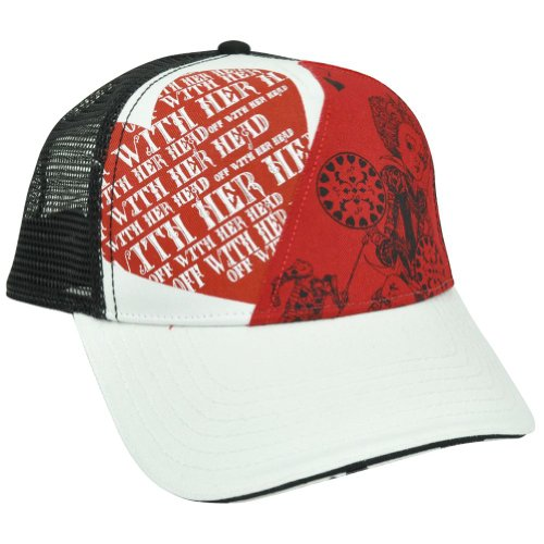 Alice In Wonderland Disney Queen Hearts Mesh Snapback Off With Her Head Hat Cap