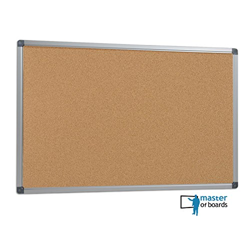 Master of Boards® Office Cork Notice Board – 44″ x 32″ | Aluminum Frame, 2 Sizes Available