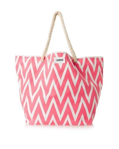 Julie Brown Women's Julie Tote & Cosmetic Bag Bundle, Pink Valerie