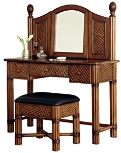 Home Styles Marco Island Vanity and Bench