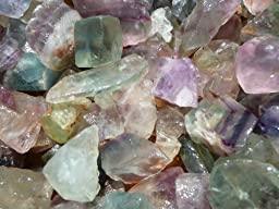 Fantasia Materials: 2 lbs Rainbow Fluorite Rough - (Select 1 to 18 lbs) - Raw Natural Crystals for Cabbing, Cutting, Lapidary, Tumbling, Polishing, Wire Wrapping, Wicca and Reiki Crystal Healing