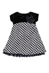 Soul Fairy Girls' Dress (CHRDRSVLV21B_Black White_7-8 Years)