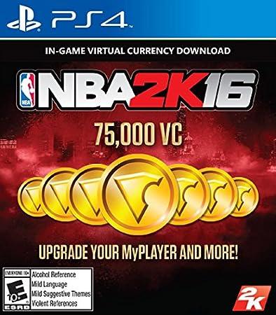 NBA 2K16 - 75,000 VC - PlayStation 4 [Digital Code]
