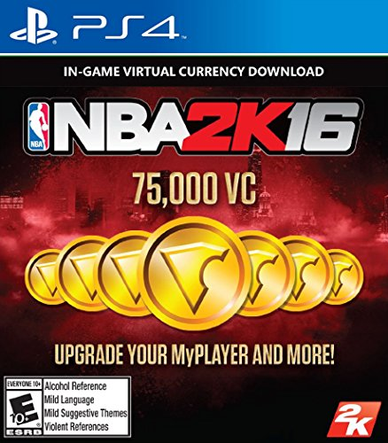 NBA 2K16 - 75,000 VC - PlayStation 4 [Digital Code]