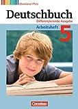 Deutschbuch - Differenzierende Ausgabe Rheinland-Pfalz: 5. Schuljahr - Arbeitsheft mit Lösungen