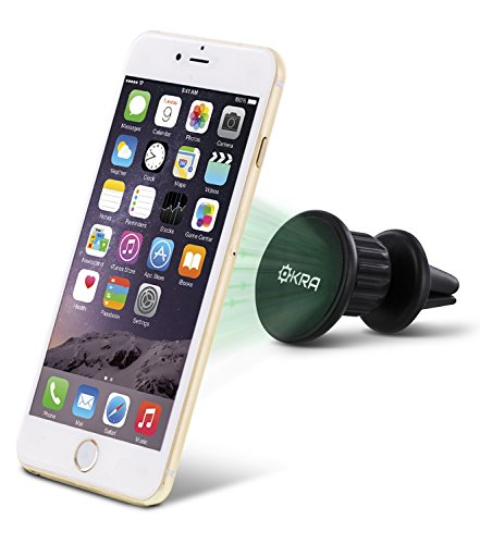 Okra® Universal MagnetMount 2 Slick Compact 360° Degree Rotating Magnetic Air Vent Car Mount Holder for iPhone 6s Plus 6 5s, Galaxy S6 Edge plus S5 & All Android Smartphones Cell Phones Devices (Air Vent Iphone 5s Holder compare prices)