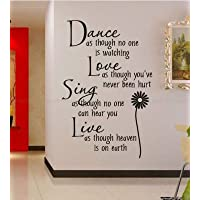 Dance love sing live Wall Quotes Deca…