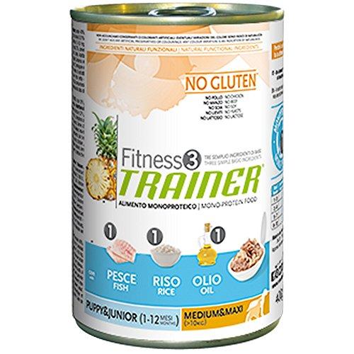 TRAINER Fitness 3 no gluten medium&maxi puppy pesce riso e olio 150gr