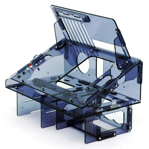Dragon Computer Case Myopenpc Bench Dragon Transparent Black Acrylic Tilted Reversible Test