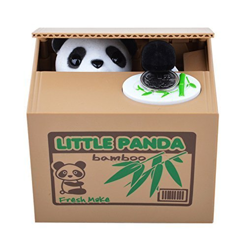 Virtuous * Stealing Coin Panda Bank,saving Piggy Bank - Cool Electronic Gadgets (No Batteries)(cute Panda)