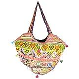 Chaman Handicrafts Cotton Multi Color Bag (40 Cm*50 Cm) - B00P0VP0NG