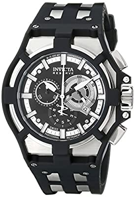 "Invicta Men's 0636SYB ""Akula"" Stainless Steel Watch with Black Silicone Band"