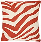Safavieh Pillow Collection Throw Pillows, 22 by 22-Inch, Urban Spice Orange Sunburst, Set of 2
