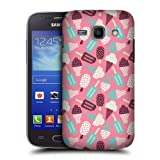 Head Case Designs Chocolate and Vanilla Ice Cream Patterns Protective Snap-on Hard Back Case Cover for Samsung Galaxy Ace 3 S7270 S7272