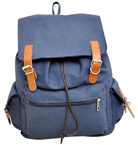 AM Landen Medium Size Canvas Backpack School Bag