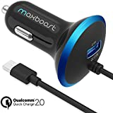 Quick Charge 2.0 Car Charger, Maxboost 30W Dual Output USB Car Charger - Smart 5V/2.4A + QC 2.0 12V/9V/5V MicroUSB...