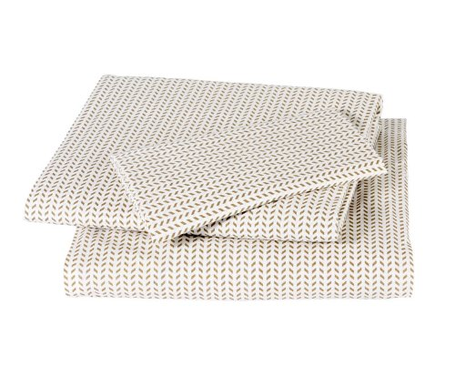 Dwellstudio Chevron Twin Sheet Set, Chocolate