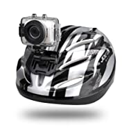 Gear-Pro High-Definition Sport Action Camera, 1080p 720p Wide-Angle Camcorder With 2.0 Touch Screen - SD Card Slot, USB Plug And Mic - All Mounting Gear Included - For Biking, Riding, Racing, Skiing And Water Sports, Etc. - SILVER by WCI