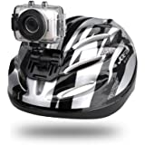 Gear-Pro High-Definition Sport Action Camera, 1080p 720p Wide-Angle Camcorder With 2.0 Touch Screen - SD Card Slot, USB Plug And Mic - All Mounting Gear Included - For Biking, Riding, Racing, Skiing And Water Sports, Etc. - SILVER