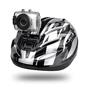 Gear Pro High-Definition Sport Action Camera, 1080p 720p Wide-Angle Camcorder With 2.0 Touch Screen - SD Card Slot, USB Plug And Mic - All Mounting Gear Included - For Biking, Riding, Racing, Skiing And Water Sports, Etc (Silver)