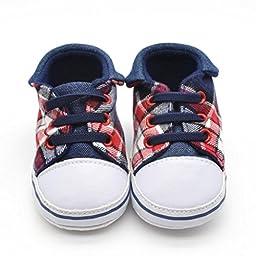 Voberry® Prewalker Infant Sweet Canvas Sneaker Anti-skid Soft Shoes Trainer (6~12 Month, Blue)