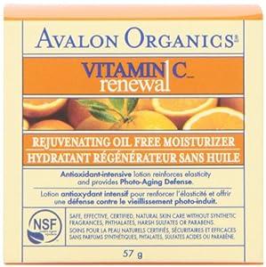 Avalon Organics Vitamin C Renewal, Oil-Free Moisturizer, 2 Ounce